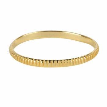 R966 Gold RING Ribbed Ring Gold Plated 34,95 euro