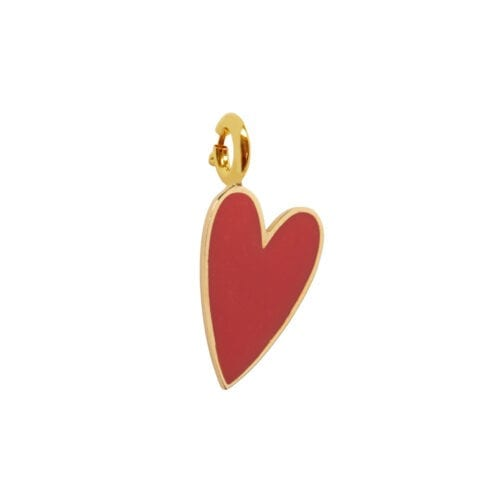 Rock Charm Red Heart ROCK CHARMS - TH-C981 Gold RED