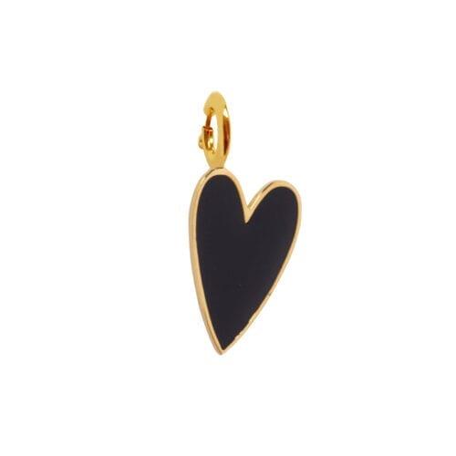 Rock Charm Black Heart ROCK CHARMS - TH-C981 Gold Black