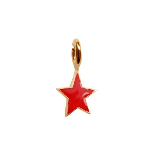 Rock Charm Red Star ROCK CHARMS - TH-C982 Gold RED