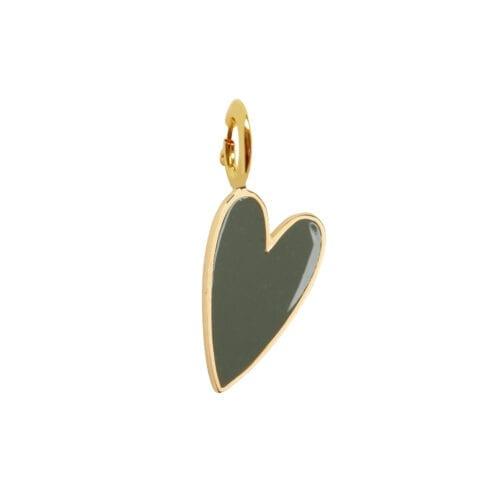 Rock Charm Green Heart ROCK CHARMS - TH-C981 Gold Green