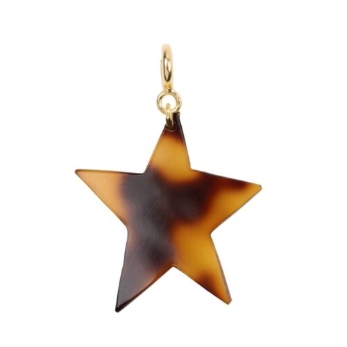 C2012a Gold Plated EARRING Tiger Resin Star Charm Gold Plated 29,95 euro