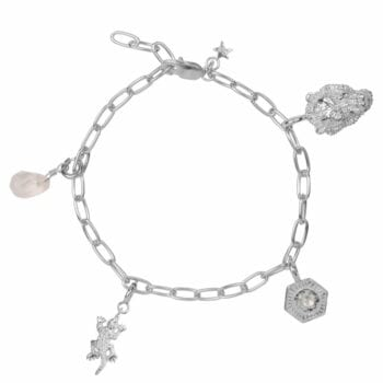 B2029 SILVER BRACELET Big Chain Bracelet EXAMPLE WITH CHARMS