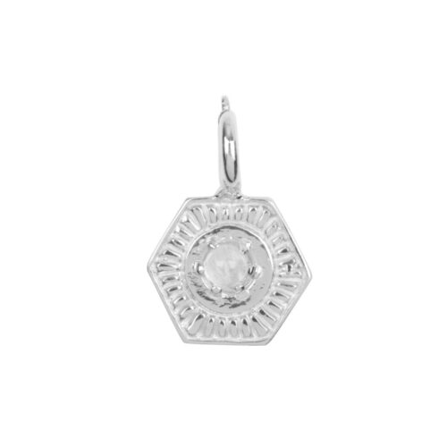 C2032 Silver CHARM Vintage Moonstone Coin Bead Silver 24,95 euro
