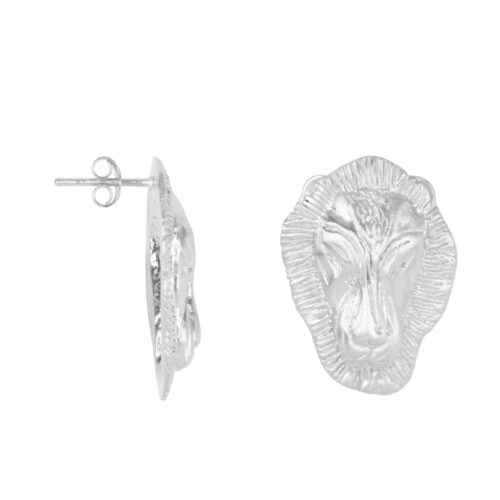 E2001 Silver EARRING Lion Head Big Stud Earring Silver 79,95 euro