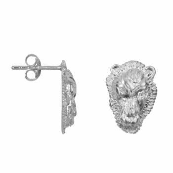E2002 Silver EARRING Lion Head Small Stud Earring Silver 39,95 euro