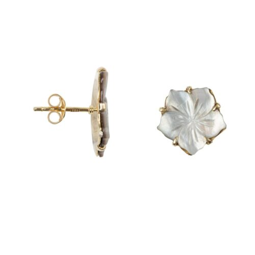 E2011 Gold Plated EARRING Shell Flower Stud Earring Gold Plated 49,95 euro