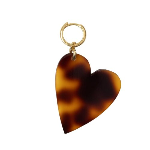 E2012 Gold Plated EARRING Tiger Resin Heart Earring Gold Plated 29,95 euro