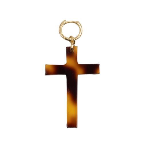 E2012b Gold Plated EARRING Tiger Resin Cross Earring Gold Plated 29,95 euro