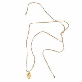 N2002 Gold Plated NECKLACE Braided Lion Head Necklace Gold Plated 59,95 euro