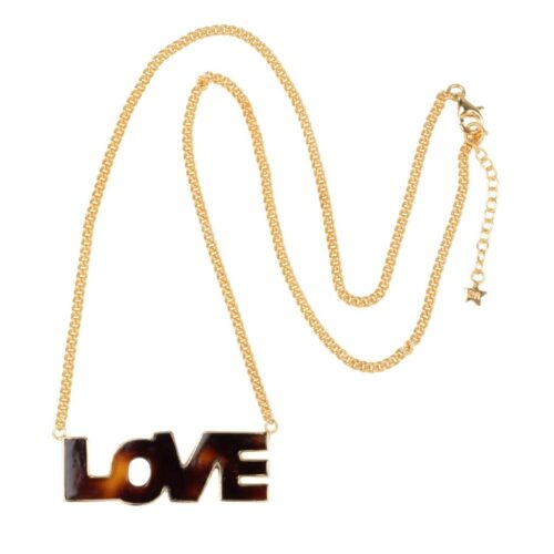 N2012 Gold Plated NECKLACE Tiger Resin Love Necklace Gold Plated 99,95 euro