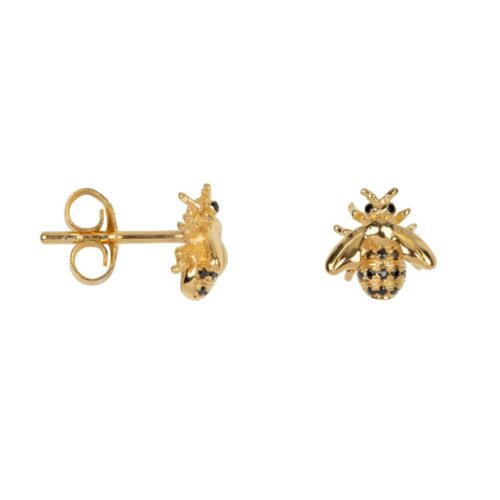 TH-E2018 Gold Plated EARRING Bee Zirkonia Stud Earring Gold Plated (PER SINGLE PIECE) 79,95 euro