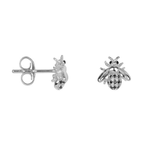TH-E2018 Silver EARRING Bee Zirkonia Stud Earring Silver (PER SINGLE PIECE) 69,95 euro