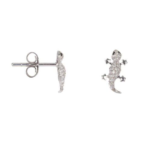 TH-E2019 Silver EARRING Lizard Zirkonia Stud Earring Silver (PER SINGLE PIECE) 89,95 euro