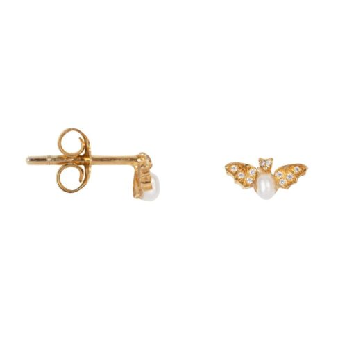 TH-E2020 Gold Plated EARRING Bat Zirkonia Stud Earring Gold Plated (PER SINGLE PIECE) 69,95 euro