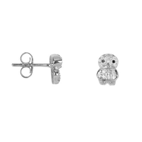 TH-E2022 Silver EARRING Owl Zirkonia Stud Earring Silver (PER SINGLE PIECE) 69,95 euro