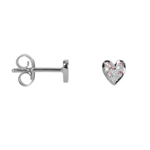 TH-E2024 Silver EARRING Heart Zirkonia Stud Earring Silver (PER SINGLE PIECE) 34,95 euro