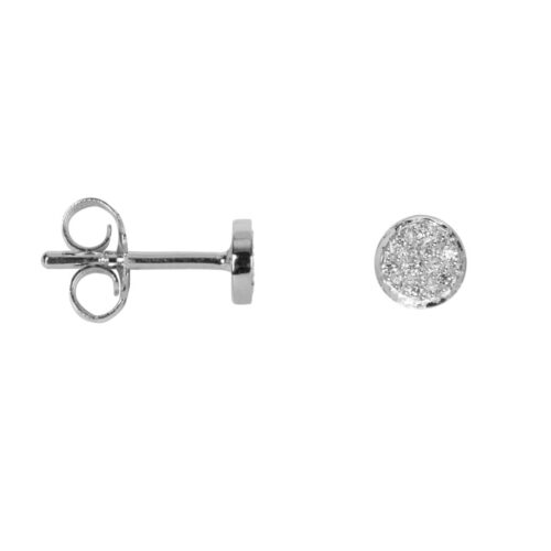 TH-E2028 Silver EARRING Round Zirkonia Stud Earring Silver (PER SINGLE PIECE) 39,95 euro