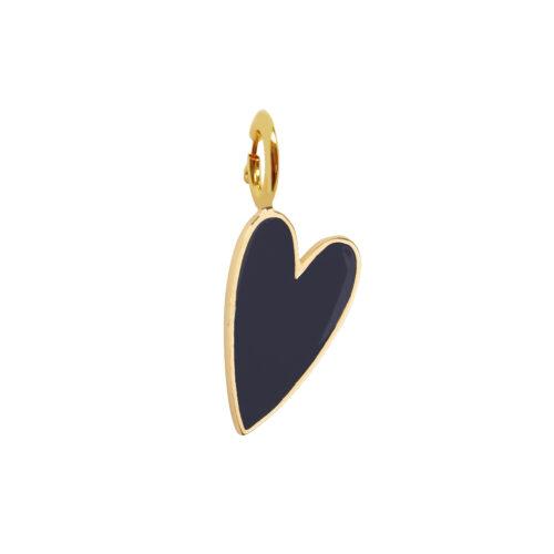 TH-C2001 Gold EVENING BLUE Rock Charm Evening Blue Heart