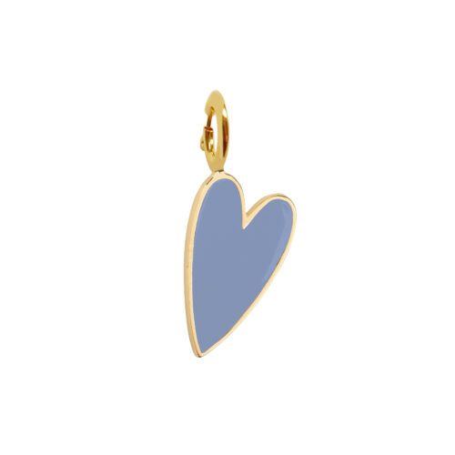 TH-C2001 Gold LAVENDER Rock Charm Lavender Heart