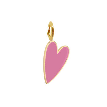 TH-C2001 Gold LOLLYPOP PINK Rock Charm Lollypop Pink Heart