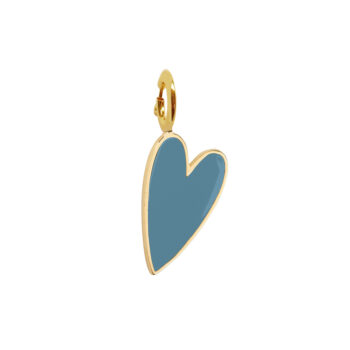 TH-C2001 Gold TURQUOISE BLUE Rock Charm Turquoise Blue Heart