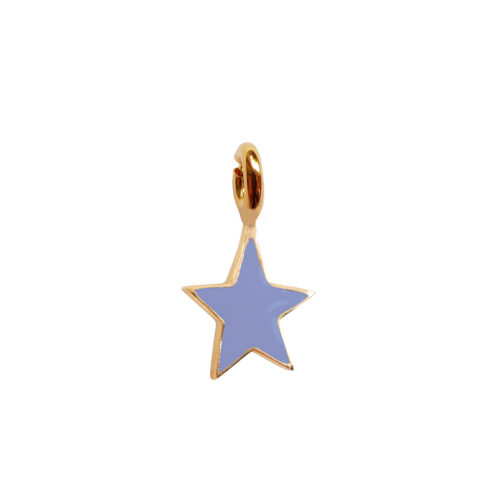 TH-C2002 Gold LAVENDER Rock Charm Lavender Star