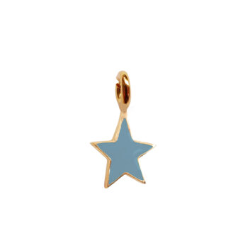 TH-C2002 Gold TURQUOISE Rock Charm Turquoise Star
