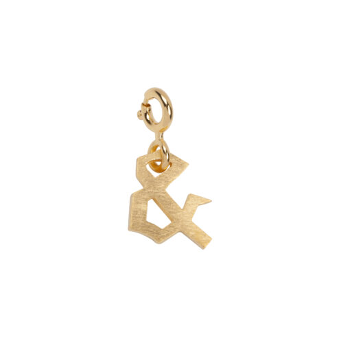 TH-C2003 Gold Rock Charm AND