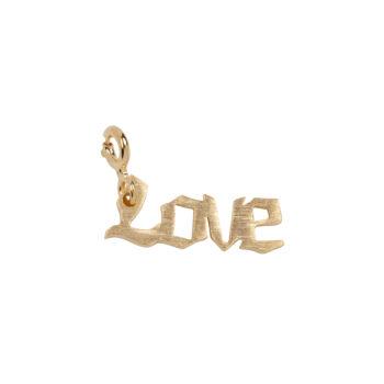 TH-C2011 Gold Rock Charm LOVE