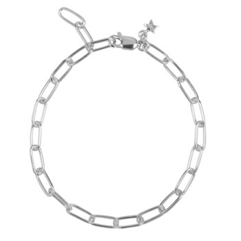 B2060 Silver Bigger Chain Bracelet Silver 69,95
