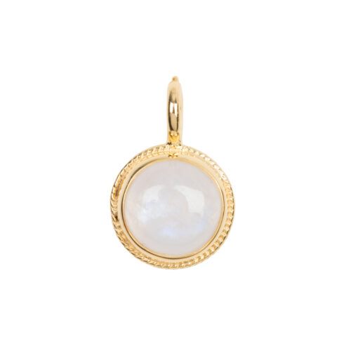 C2055 Gold Moonstone Vintage Setting Charm Gold Plated 34,95