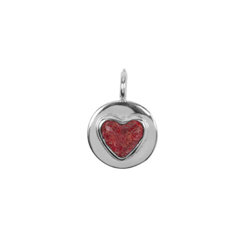 C2056 Silver Red Heart Charm Silver 29,95