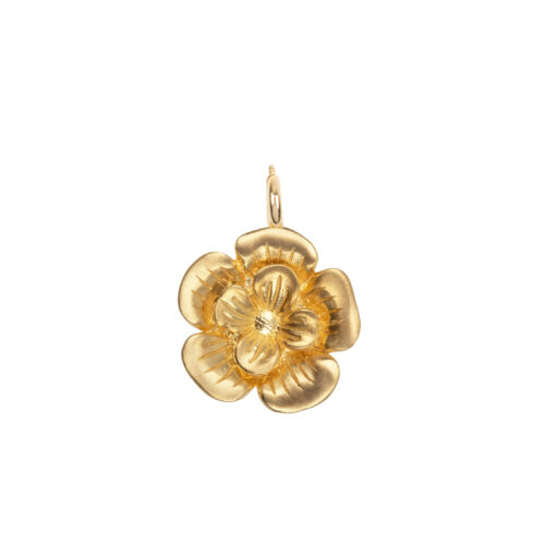 C2057 Gold Poppy Charm Gold Plated 44,95