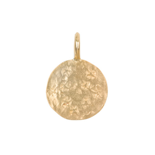 C2061a Gold Charm Coin Stars Gold Plated 29,95