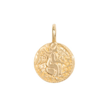 C2061d Gold Charm Angel Coin Gold Plated 29,95
