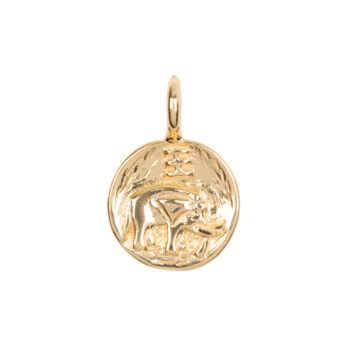 C2061e Gold Charm Elephant Gold Plated 29,95