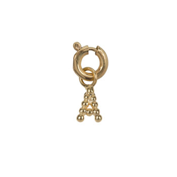 C2084 Gold Letter A Charm A Gold Plated 14,95
