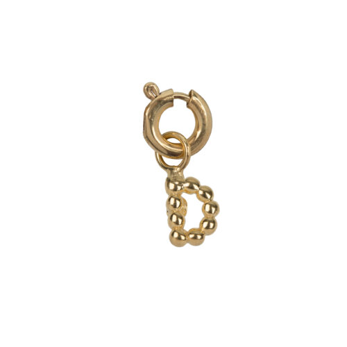 C2084 Gold Letter D Charm D Gold Plated 14,95