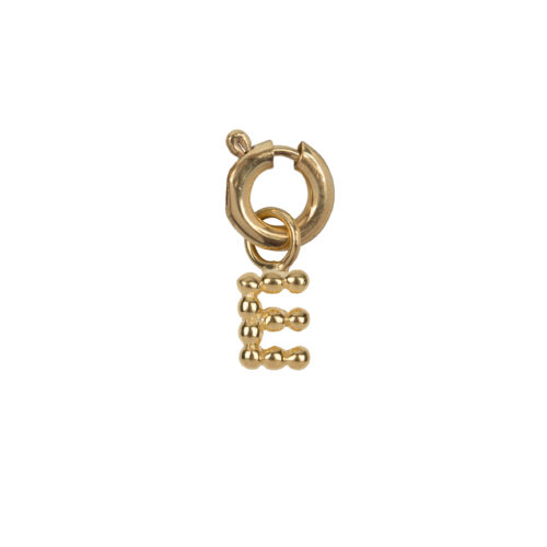 C2084 Gold Letter E Charm E Gold Plated 14,95