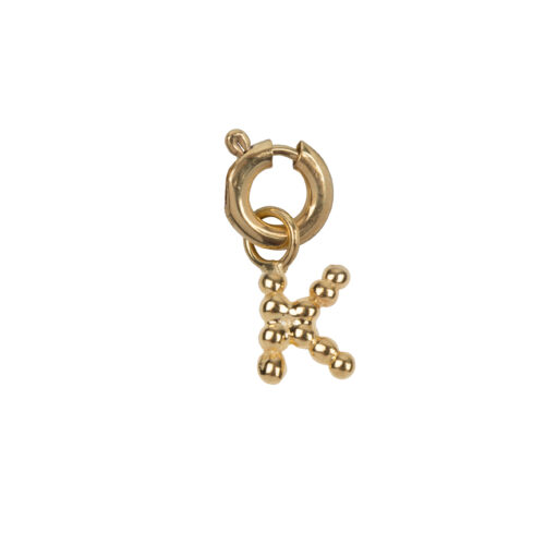 C2084 Gold Letter K Charm K Gold Plated 14,95