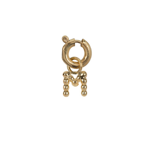 C2084 Gold Letter M Charm M Gold Plated 14,95