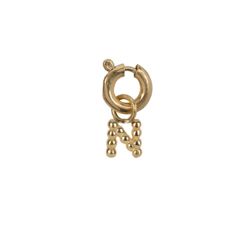 C2084 Gold Letter N Charm N Gold Plated 14,95