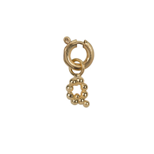 C2084 Gold Letter Q Charm Q Gold Plated 14,95