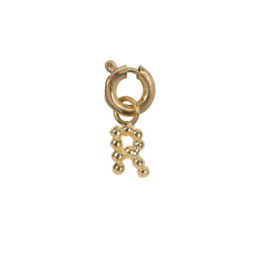 C2084 Gold Letter R Charm R Gold Plated 14,95