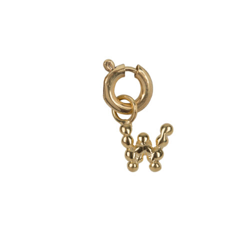 C2084 Gold Letter W Charm W Gold Plated 14,95
