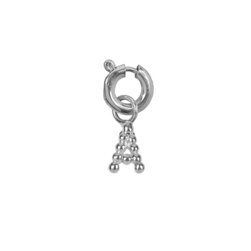 C2084 Silver Letter A Charm A Silver 12,95
