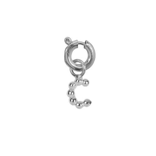 C2084 Silver Letter C Charm C Silver 12,95