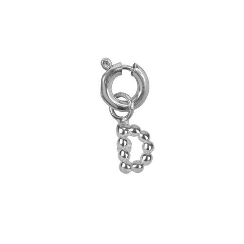 C2084 Silver Letter D Charm D Silver 12,95