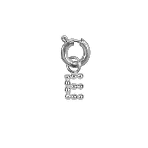 C2084 Silver Letter E Charm E Silver 12,95
